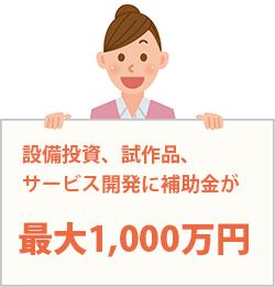 設備投資、試作品、サービス開発に補助金が最大1,030万円